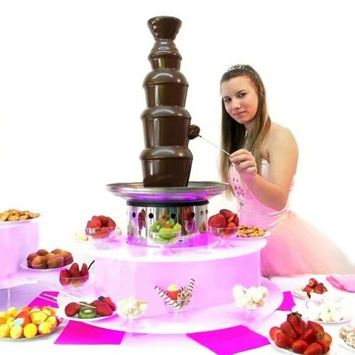 base luminosa para cascada de chocolate 3 modelos