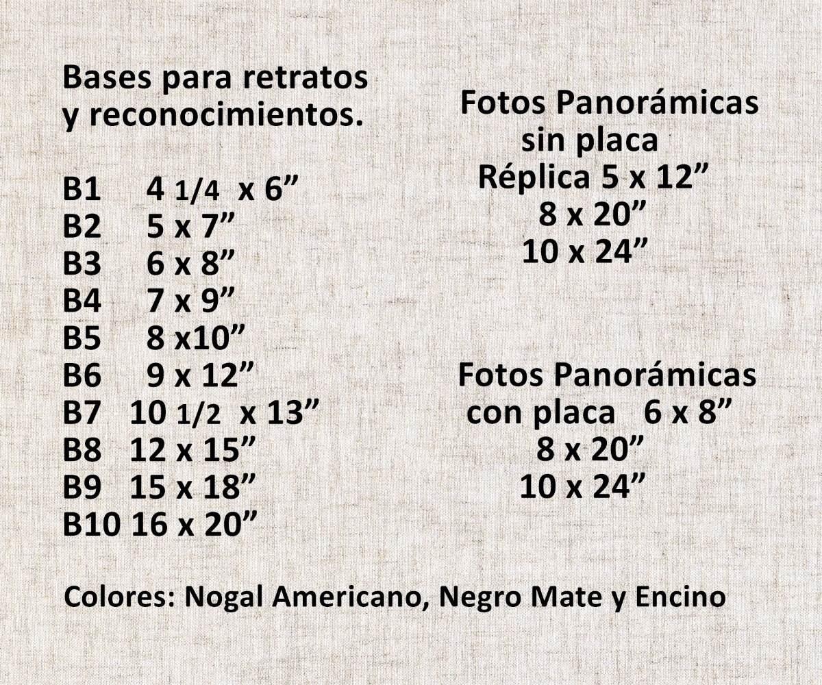 Base Madera B3 6 X 8 Pulgadas Para Fotos Y Reconocimientos - $ 46.00 ...