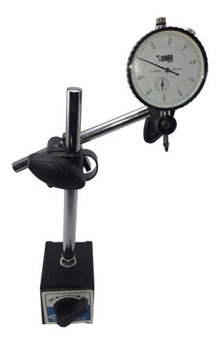 base magnética + reloj comparador centesimal 0 - 10 mm
