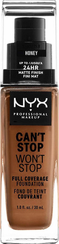 base maquillaje líquida can't stop won't stop cont. 30ml nyx