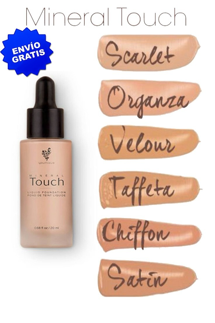 base maquillaje younique liquido mineral touch envío