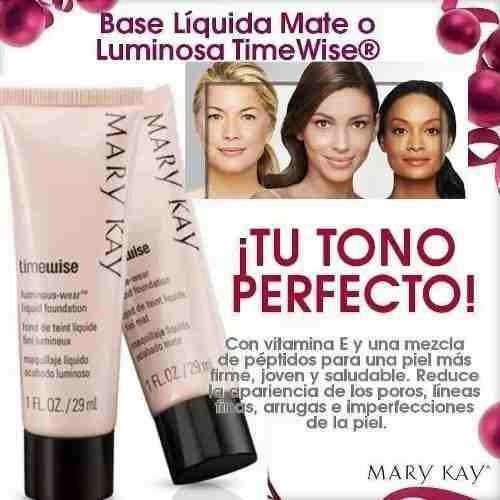 base mary kay dos unidades maquillaje liquidó mary kay