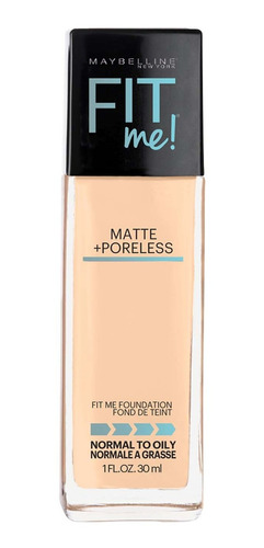 base matificante fit me tono 128 warm nude maybelline