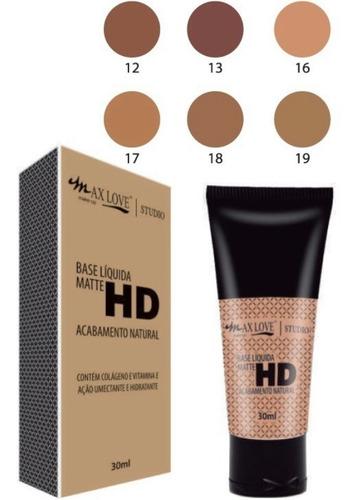 base matte max love kit c/ 24 unid + 1 pincel 05 brinde
