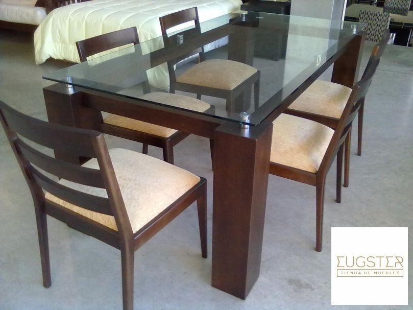 Mesa de comedor. Base de madera y vidrio - Vitacura, Región ...