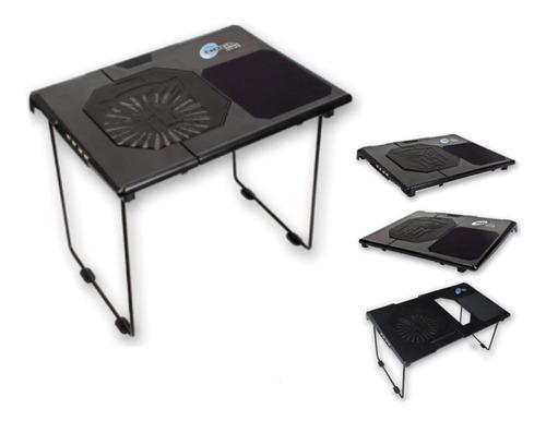 base mesa cooler para notebook + hub 4 usb noganet ng-t8