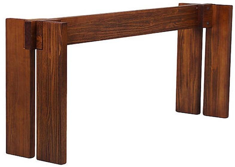 Base mesa rustica madeira maci a 170x74x50cm r 990 81 for Bases de mesas cromadas
