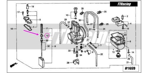 base mola pistonete carburador cr125 cr 125 2001 #1659
