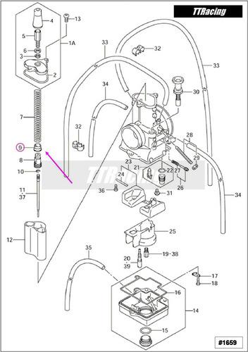 base mola pistonete carburador cr125 cr 125 2002 #1659