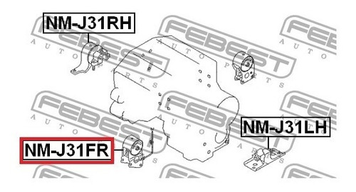 base motor delantera murano quest altima  4x2  3.5l febest