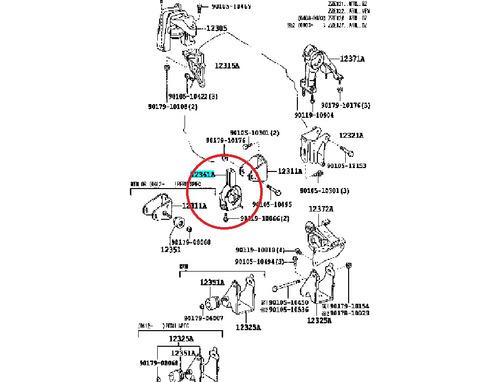base motor frontal corolla 09-10-11-12-13-14 automatico orig