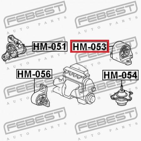 base motor trasera honda civic 01-05 febest #50810-s5a-992