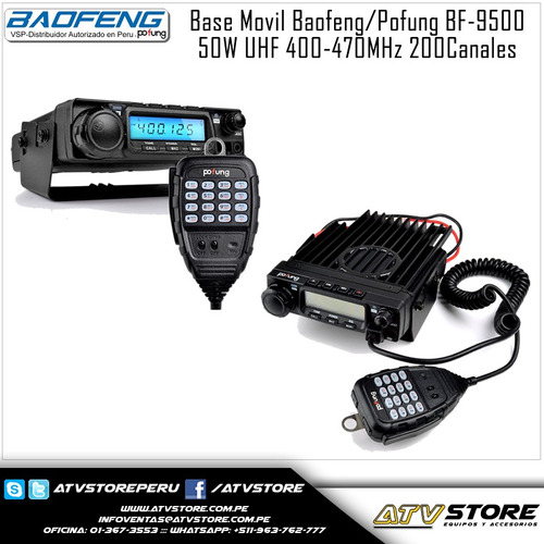 base movil baofeng bf-9500 uhf 400-470mhz 200 canales