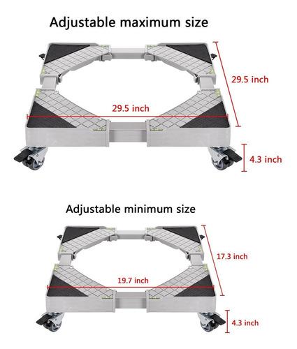 base móvil universal con 8 ruedas base ajustable móvil mu