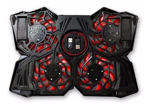 base notebook gamer noga ng coolership 4 cooler leds 1200rpm