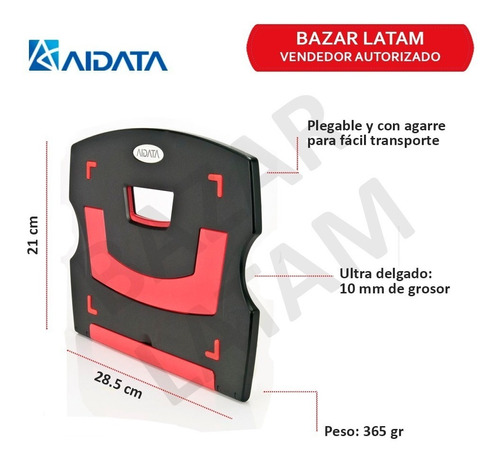 base notebook tablet aidata ns011 altura regulable