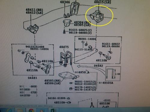 base o soporte de ballestas delant. izq.de toyota machito