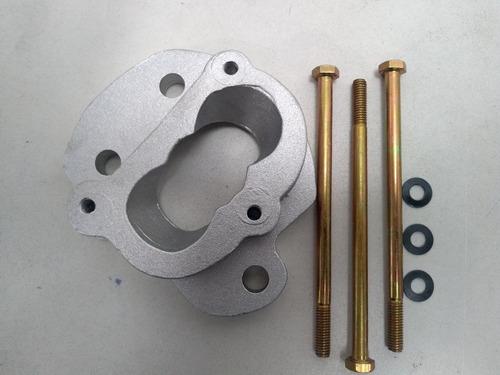 base p carburador 2e/3e gm monza ,kadett  ,100% aluminio