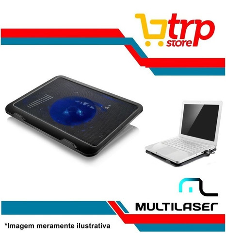 base p/ notebook usb cooler slim com led ac263 multilaser