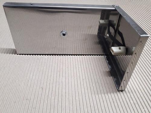 base para arandela de aço inox 12 cm x 12 cm