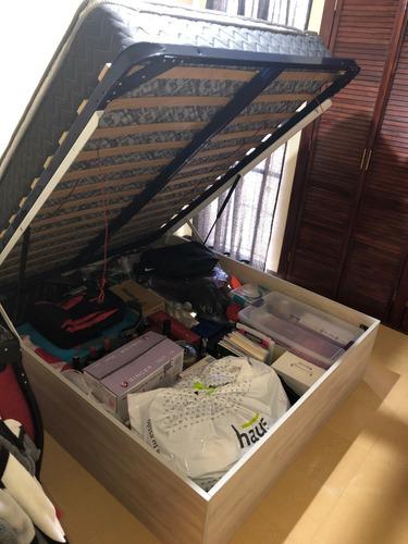 base para cama abatible canape closet inferior neumatica