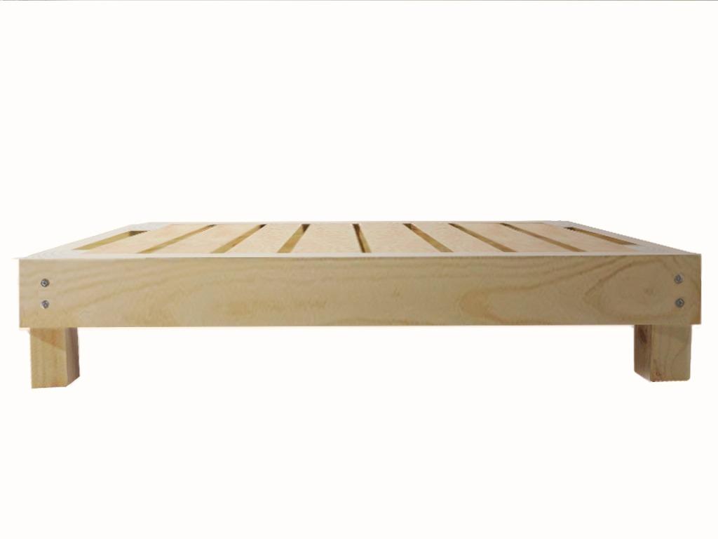 base para cama individual econ mica madera mobinterior 1 en mercado libre. Black Bedroom Furniture Sets. Home Design Ideas