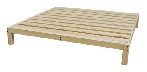 base para cama king size tradicional desarmable sin pintar