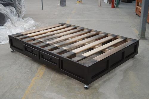 base para cama modelo grecia individual chocolate