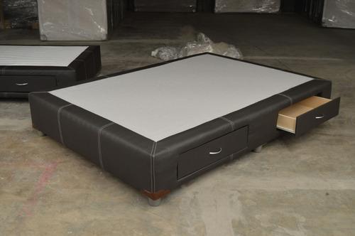 base para cama plus con cajones matrimonial (cdmx y edomex)