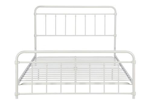 base para cama vintage de metal queen size color blanco