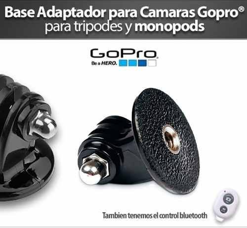 base para camaras gopro monopod selfie adaptador tripode new