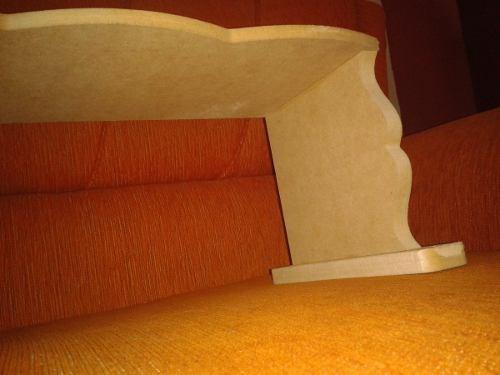 base para cenefa de 130x15x15cm en mdf crudo