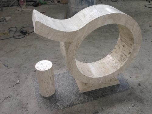 base para consola en mármol travertino mod signo