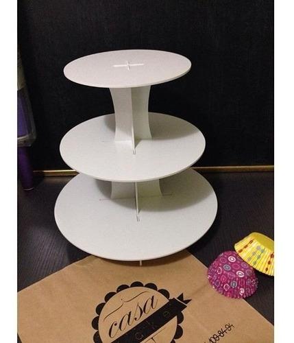 base para cupcake de 3 niveles redonda