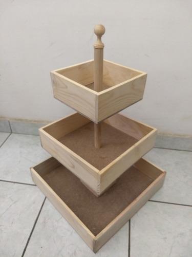 base para cupcakes 3 niveles modelo bombonera