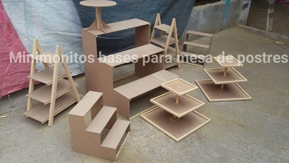 Base para cupcakes cuadrada mdf y madera en Fabrica de bases para mesas