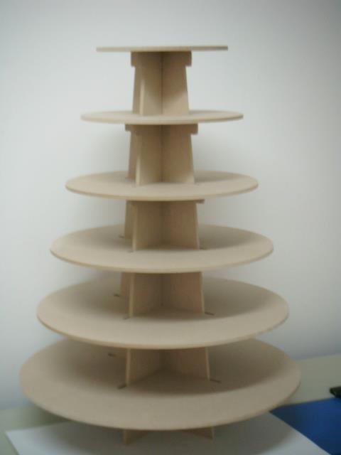 Base para cupcakes bollitos de 6 pisos hecho de madera - Bases para cupcakes ...