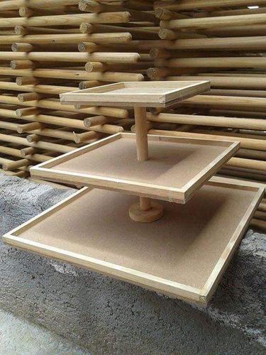 base para cupcakes cuadrada mdf y madera