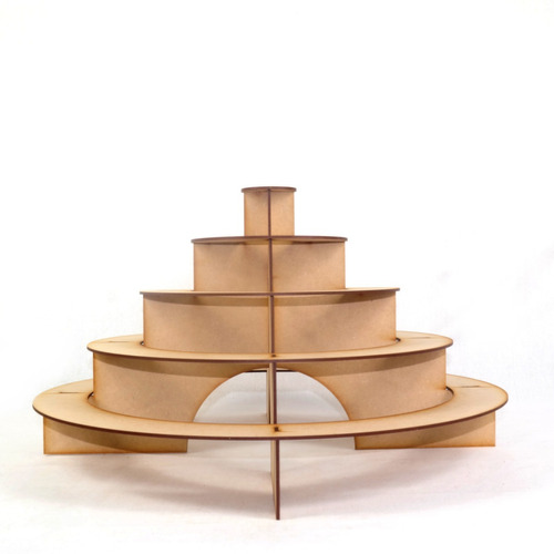 base para cupcakes piramide circular en mdf mesa dulces