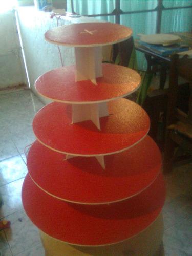 base para cupcakes ponquesitos  5 pisos reversibles