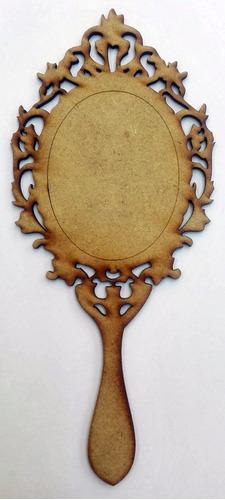 base para espejo princesa invitación xv años recuerdo madera