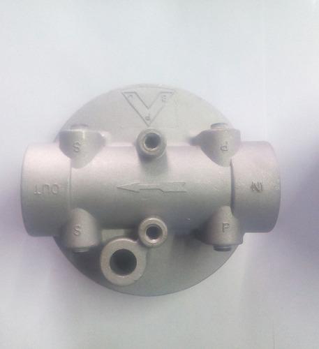 base para  filtro  de aceite hidráulico camión revolvedor