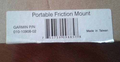 base para gps garmin portable friction mount 010-10908-02