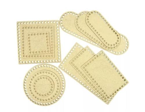 base para maxi crochê - mdf - tamanhos variados