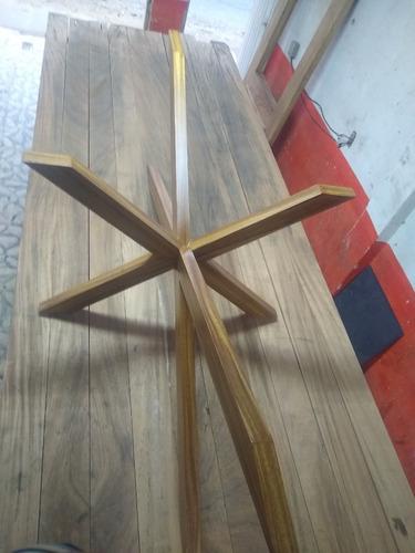 base para mesa comedor, pedestal para mesa de vidrio, parota
