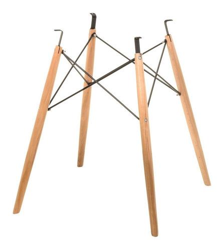base para mesa jantar eames eiffel wood 120cm - design
