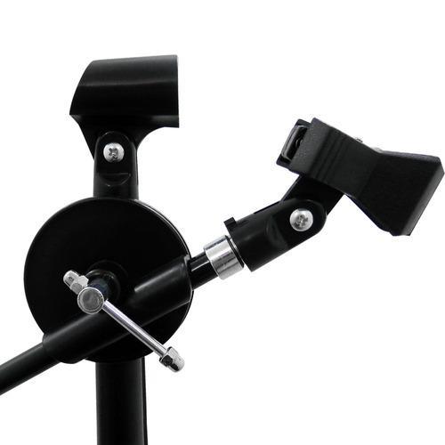 base para microfono boom ajustable 1.60m pinza presion 1009