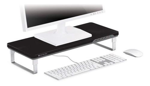 base para monitor satechi con 4 puertos usb -negro