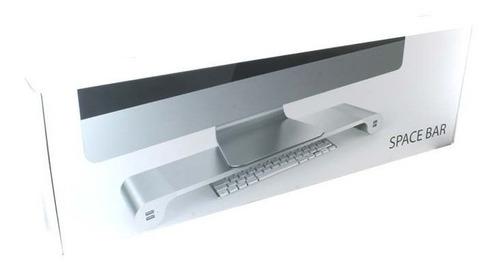 base para monitor space bar 4 puertos para carga usb