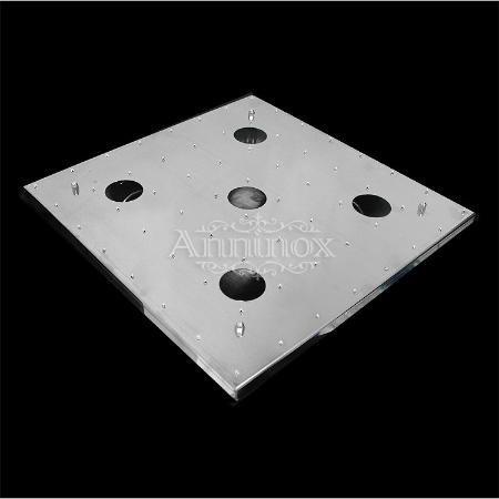 base para montagem de lustre de cristal em inox 38x38